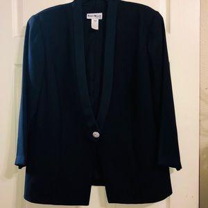 Karen Miller-Black Tuxedo Style Dinner Jacket 16W